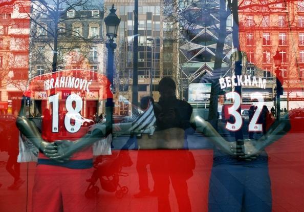 Vue de la boutique PSG sur les Champs-Elysées