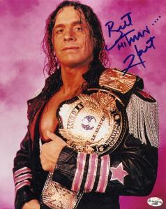 Bret Hart et sa ceinture